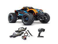 Traxxas 89076-4-FD Traxxas Maxx 1/10 brushless TSM et kit phares LED (Orange)
