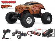 Monster rc Craniac 4x2 1/10 brushed TQ 2.4ghz ID (avec chargeur 12v et accus Nimh Traxxas