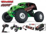 Monster rc Skully 4x2 1/10 brushed TQ 2.4ghz ID (avec chargeur 12v et accus Nimh Traxxas