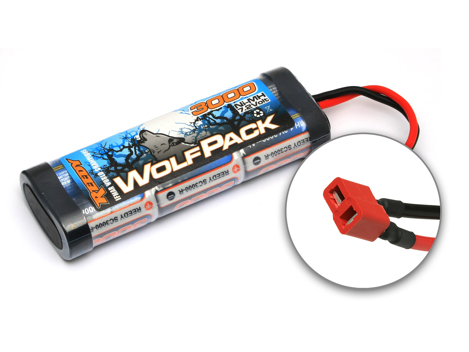 Detail Produit Reedy 682 WolfPack NiMH 3000mAh 7.2V w/ High Power Connector