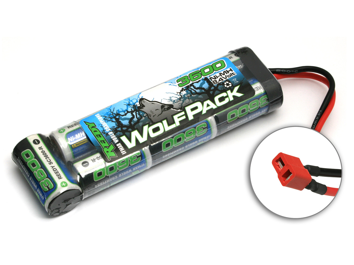 Detail Produit Reedy 725 WolfPack NiMH 3600mAh 8.4V w/ High Power Connector